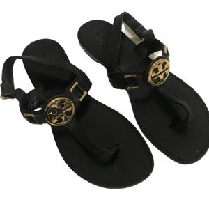 Tory Burch Bryce sandal adjustable strap black 9.5